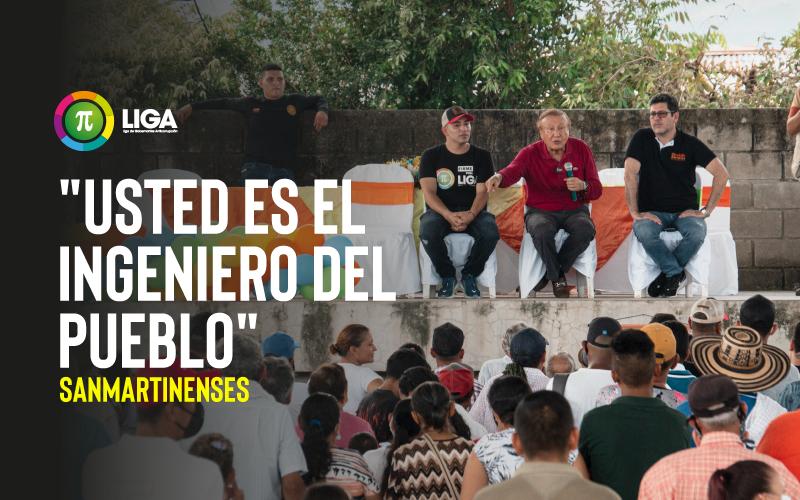 """""""USTED ES EL INGENIERO DEL PUEBLO"""": SANMARTINENSES"""